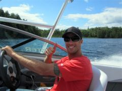 judd driving a boat