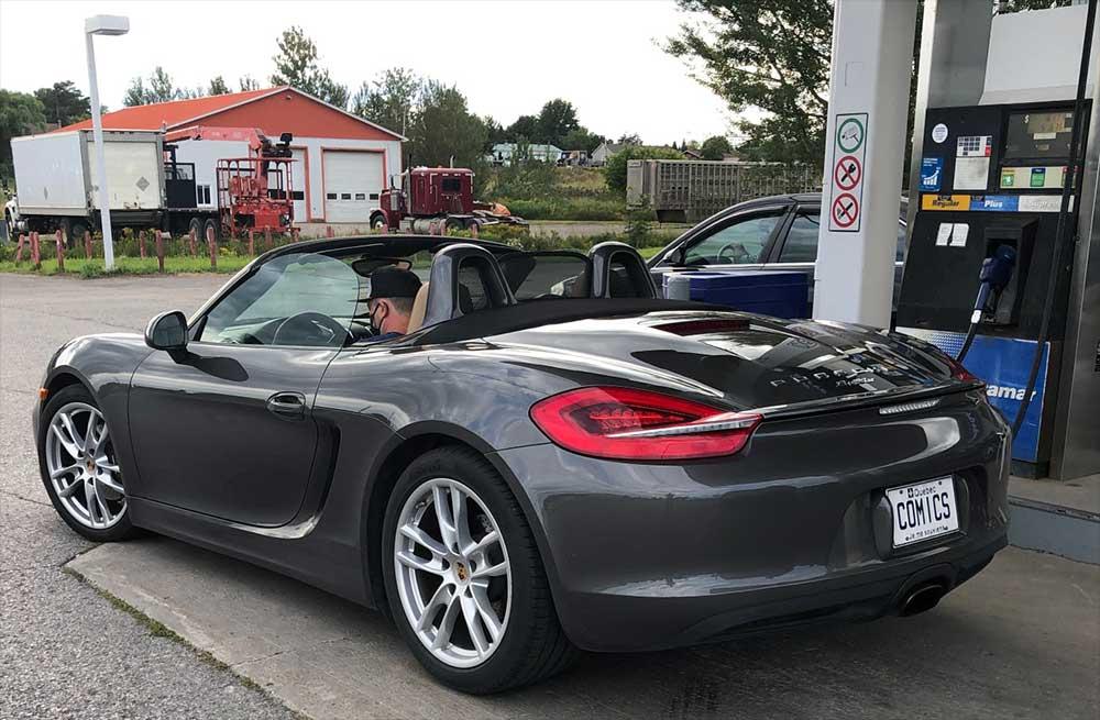 A black Porsche